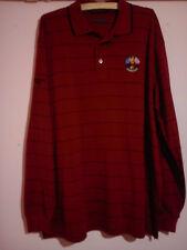 Ryder Cup 2010 Celtic Manor manches longues rouge foncé Polo Shirt XL parfait état