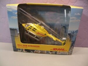 Dhl Diecast Helicopter Bell 206b Jetrangler New In Box Daron