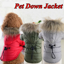 Winter Warm Cotton-padded For Puppy Dog Padded Jacket Hoodie Thick Coat Clothes