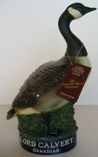 CANADA GOOSE LORD CALVERT CANADIAN DECANTER + HANGTAG 1977 1st IN SERIES