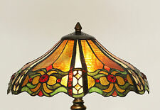 MICHELAZZI LARGE TIFFANY STYLE TABLE LAMP LEAD LIGHT - WILL SHIP AUSTRALIA WIDE