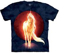 Unicorn Last Majestic Fantasy Horn Horses Animal Adult T-Shirt Mountain M-3X