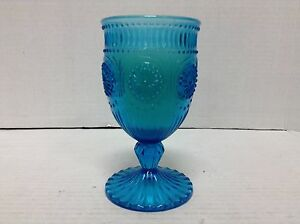 1 Pottery Barn Blue Vintage Sundae Glass Candle English Garden scented candle