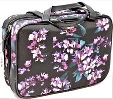 Victoria Secret Cosmetic Travel Tote Bag Hanging Train Case Purple Tropical New