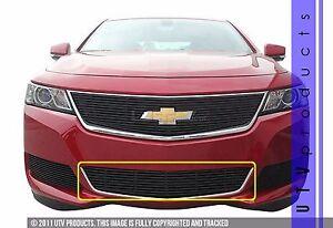 GTG 2014 - 2019 Chevy Impala 1PC Gloss Black Custom Overlay Bumper Billet Grille