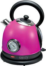 Edelstahl Design Wasserkocher, Retro Kocher,1,8 Liter,2200 Watt, Violett NEU