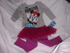 DISNEY MICKEY MOUSE CLUBHOUSE Girl's Outfit 18 Months Shirt & Pants Glitter NWT