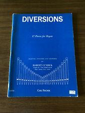 Robert Cundick Diversions Organ Sheet Music Religious Devotional 1968 Liturgical