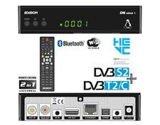 Edision OS nino+ DVB-S2 & DVB-C/T2 Combo Linux Receiver Full HD H265 HDMI Wifi