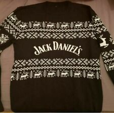 More details for official jack daniels christmas jumper 2020 size medium