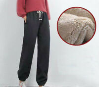 Harem Women Winter Outdoor Pants Lined for Thicken Breathable Fleece Sport