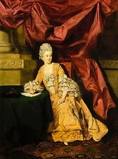 VINTAGE PAINTING PORTRAIT THRALE YELLOW DRESS AUTHOR 18TH CENTURY POSTER LV4773