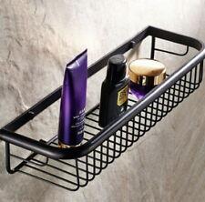 Oil Rubbed Black Bronze Bathroom Wall Mount Shower Basket Shelves Caddy Storage