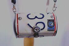 Little Earth New York License Plate Round Crossbody Purse Handbag Rubber Strap