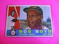 1960 TOPPS baseball Set Break #207 Bob Boyd Orioles WB NmMt High Grade