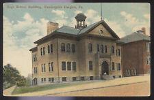 1914 POSTCARD VANDERGRIFT HEIGHTS PA HIGH SCHOOL BUILDING