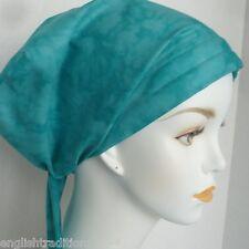Cancer Chemo Hat Hair loss Alopecia Cotton Scarf Turban Head Wrap Cover Sea Foam