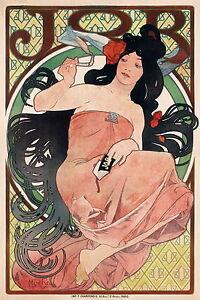 """Australia 28"""" alphonse mucha vintage art nouveau print painting CANVAS"""
