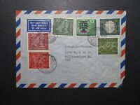 Germany 1960 Airmail Cover to USA w/ Better Stamps - Z11855