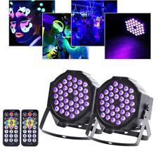 2pcs 72W 36 LED UV Black Light Flat Par Can Stage DMX512 Lamp DJ Bar Party Light