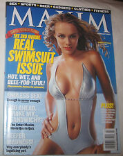 Maxim Magazine For Men Feburary 2002 # 50 Swimsuit Issue Free Shipping U.S.A.