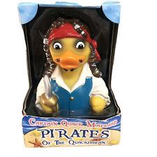 CelebriDucks captain quack mallard pirates of the quackibben Duck Bath Toy box
