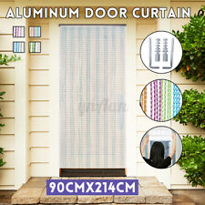 214x90CM Aluminum Door Curtain Metal Chain Fly Insect Blinds Screen Pest