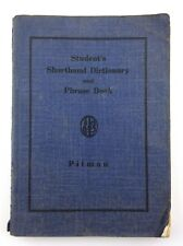 Vintage Student Shorthand Dictionary Phrase Book Pitman P916