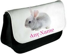 Personalised BUNNY/RABBIT Pencil Case/Make Up Bag *Choice of text colour*