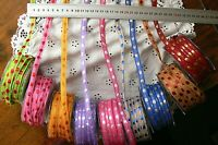 Two-Tones Woven Stitched 10mm wide 3 Metre 9 Colour Choices Ribbon Braid QG H4