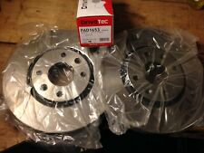 Peugeot 207 Sport 1.6 Turbo Front Brake Discs And Pads 283mm Vented
