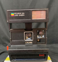 Original Polaroid 640 Sun Land 600 Instant Film Flash Camera tested working