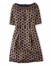 BNWT Boden Beatrice Dress UK 10 R EU 36 US 6 Navy Daisy  RRP £169