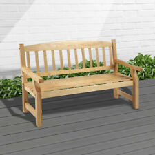 More details for 5ft wooden 3 seater garden bench seat large classic outdoor furniture new