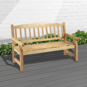 5FT Wooden 3 Seater Garden Bench Seat Large Classic Outdoor Furniture NEW