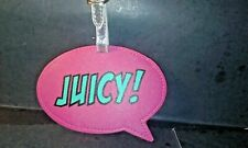 Juicy Couture Luggage Tag Limited Edition Hot Pink- Nwt- Fast 3-5 Day Delivery
