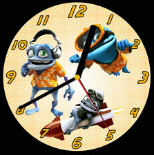 Crazy Frog CD Clock, free stand can be personalised