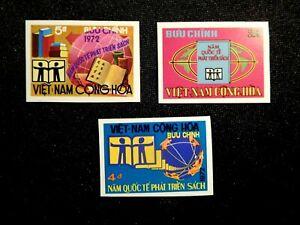 VIETNAM IMPERF Stamp Set Scott 441-443 MNH SCARCE ITEM