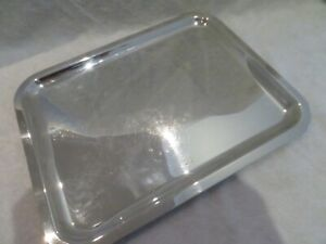 """vintage French silver-plated rectangular tray christofle """"frame"""" 14*11inch"""