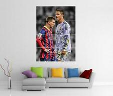 Lionel messi et cristiano ronaldo GIANT WALL ART IMAGE PRINT PHOTO POSTER