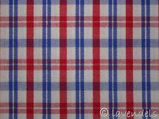 Dirndlstoff ♥ Baumwolle Trachten Stoff Karo kariert weiß rot blau REDUZIERT
