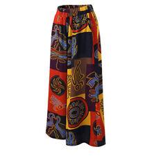 Summer Women Floral Loose Boho Harem Wide Leg Long Pants Palazzo Trousers Yoga J