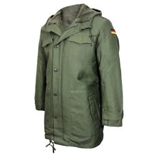 Olive German Army Parka with Liner - Winter Coat Fleece Lined Hood Repro New