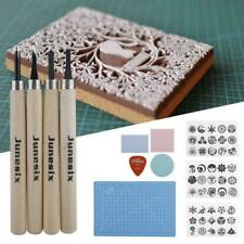 Rubber Stamp Block Cutting Carving Printing Kit w/ Ink Pad Pattern Tracing Paper
