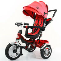Little Bambino 4 IN 1 Tricycle Stroller Kids Children Baby Toddlers Trike - Red