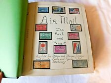 Vintage Scott Collector Album AIRMAIL STAMPS Binder Book Collection