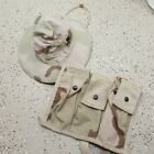 US Military 6 MAG MOLLE II Bandoleer Ammo Pouch 3-Color Desert Camo PLUS Boonie