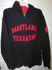 NCAA Maryland Terps Black Full Zip Hoodie Sweatshirt Large by Champs
