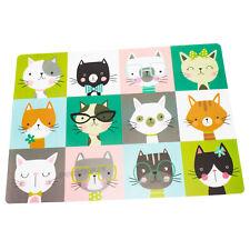 Large 43cm Cat Feeding Mat Water Food Bowl Plate Dish Kitten Plastic Placemat