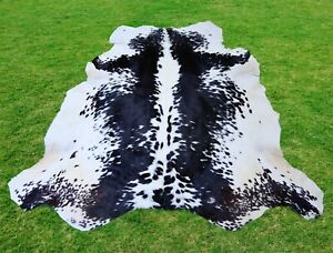 Large Cowhide Rug -Animal Skin Rug Skin Rug  Leather Rug 6.1 x 6.1 ft